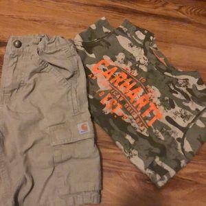 Boys carhartt shorts and tank